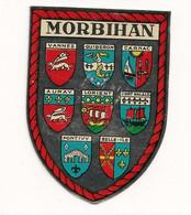 Ref AlbMar : Ecusson Autocollant Sticker Année 60-70 Métalisé Morbihan - Aufkleber