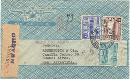 Peru 1944, Registered Airmail, Sent From Huacho On 01/02/1944 To Buenos Aires, Transit Mark In Lima And Reception In Bue - Peru