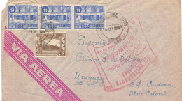 Peru 1948, Airmail, Sent From Trujillo On 09/14/1948 To Colonia Uruguay, Special Cachet, Anniversary Of The Inter-Americ - Peru