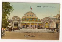 Ref 567 : CPA 03 VICHY Carte à Systeme Sous Le Casino Vous Verrez... - Mechanical