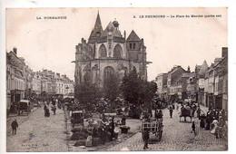 Ref 563 : CPA 27 LE NEUBOURG La Place Du Marché Un Jour De Foire - Le Neubourg