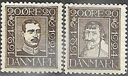 Denmark  1924  Sc#172-3   MLH  2016 Scott Value $14 - Ongebruikt