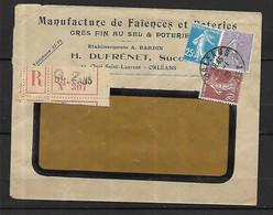 France  Lettre Publicitaire  Recommandée 30 01   1926   D '  Orléans - Cartas