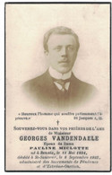 MONSIEUR GEORGES VANDENDAELE EPOUX DE DAME PAULINE MICLOTTE NE A RENAIX 1884 DECEDE A ST-SAUVEUR 1935 - Décès