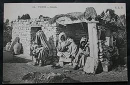 CPA Tunisie - Tunis – Gourbi – E.L.D. N° 14 – Animée, écrite. - Tunisia