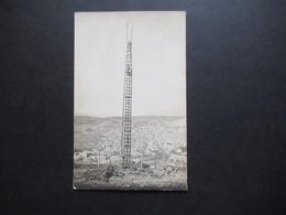Foto AK Um 1915 Echtfoto AK 1.WK Soldaten Auf Dem Truppenübungsplatz Auf Einer Leiter / Himmelsleiter - Barracks