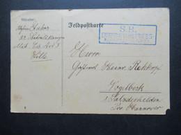 Militär PK Feldpost AK 1.WK 1915 Blauer Stempel Ra3 S.B. Eisenbahnbetriebs - Kompagnie Nr. 24 In Lille (Frankreich) - Covers & Documents