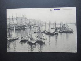 Feldpost 1.WK 1918 AK Belgien Visschersschulten Kleinee Segelboote Stempel Ra2 S.B. K. R. J. R. 226 - Covers & Documents