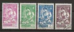 ALGERIE 1944 . Série N°s 205 à 208 . Oblitérés . - Used Stamps