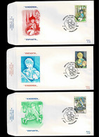 FDC :  Nr 2151/53 Stempel:  6000 Charleroi - 1981-90