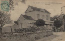 24 SAINT-PANTALY-D'EXIDEUIL   RARE  CPA    L'Ecole - Autres Communes