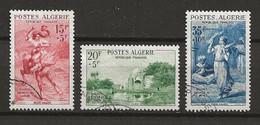 ALGERIE 1957 .  N°s 346 , 347 Et 348 . Oblitérés . - Used Stamps