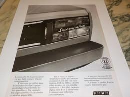 ANCIENNE PUBLICITE VOITURE SUPER MIRAFIORI  DE FIAT 1978 - Cars
