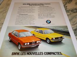 ANCIENNE PUBLICITE  VOITURE MOYENNE  BMW 1976 - Cars