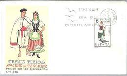 TRAJE  1970  ST.CRUZ DE TENERIFE - FDC