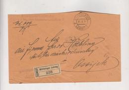 AUSTRIA LEBRING MILITARLAGER 1916 Nice Registered Cover Militaria To OSIJEK CROATIA HUNGARY - Brieven En Documenten