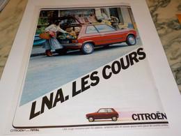 ANCIENNE PUBLICITE CITROEN LNA 1979 - Cars