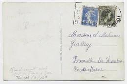 FRANCE SEMEUSE 40C OUTREMER MIXTE LUXEMBOURG CARTE LUXEMBOURG OBL DAGUIN TOUL 17.5.1930 - 1906-38 Semeuse Con Cameo
