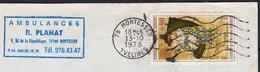 EUROPA 80c Y.T.1840 SEUL Sur Enveloppe De 78 MONTESSON Avec En-tete PUB Le 13 10 1975 Pour 78500 SARTROUVILLE - 1961-....