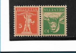 SCHWEIZ -  Tellbrust 1921 -  Mi.Nr. K17 **  MNH - Nuevos