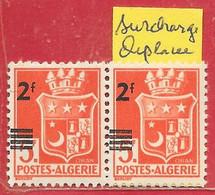 Algérie N°197 (x2) 2F Sur 5F Armoirie Blason Oran (surcharge Déplacée) 1943 ** - Ongebruikt