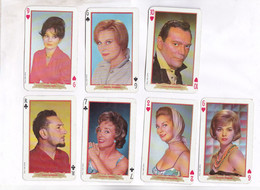 7 CARTES A JOUER , AVEC ACTEURS FRANCAIS - Carte Da Gioco