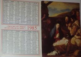 Petit Calendrier 1985 Religieux - Procure Missionnaire De L'Assomption  - Adoration Des Bergers - Small : 1981-90