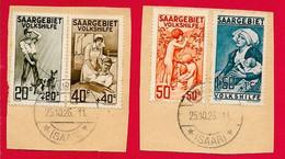 Sarre N°103 à/to 106 1926 O - Oblitérés