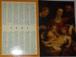 Petit Calendrier 1981 Religieux - Procure Missionnaire De L'Assomption  - La Sainte Famille - Small : 1981-90