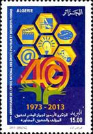 Ref. 303561 * NEW *  - ALGERIA . 2013. 40TH ANNIVERSARY OF THE NATIONAL COPYRIGHT OFFICE (ONDA). 40 ANIVERSARIO DE LA - Argelia (1962-...)
