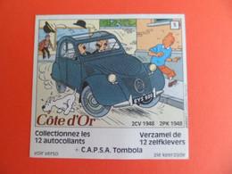 Chromo 1984 Chocolat Cote D'Or - TINTIN Citroen 2cv 1948 2PK - Tombola CAPSA - Dupont Milou - Côte D'Or