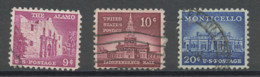 Etats Unis - Vereinigte Staaten - USA 1956 Y&T N°614 à 616 - Michel N°?+665+669 (o) - Monuments - Gebruikt