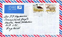 AFRIQUE DU SUD. N°819 De 1993 Sur Enveloppe Ayant Circulé. Outarde. - Kranichvögel
