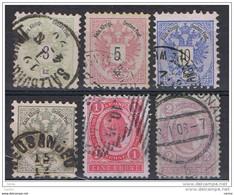 AUSTRIA:  1883/99  VARI  -  6  VAL. US. -  YV/TELL. 41//78 - Gebruikt