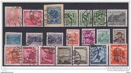 AUSTRIA:  1913/48  SOGGETTI  VARI  -  LOTTICINO  21  VAL. US. -  YV/TELL. 107a//707 - Gebruikt