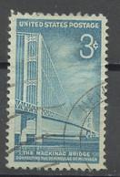 Etats Unis - Vereinigte Staaten - USA 1958 Y&T N°645 - Michel N°729 (o) - 3c Pont Mackinac - Gebruikt