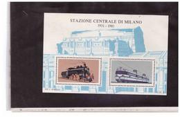 """B26   -  ERINNOFILO NUOVO  """" STAZIONE CENTRALE DI MILANO 1931-1981 """" - Trains"""