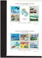 488   -  STORIA DEI TRASPORTI ITALIANI.GRUPPO FILATELICO CARIPLO - GRANDE FOGLIO ERINNOFILO - Zonder Classificatie