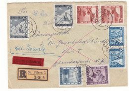 Autriche - Lettre Recom De 1947 - Oblit St Polten - Exp Vers Wien - - 1945-60 Cartas