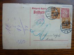 1920  Brief  Postkarte   AUGSBURG (légère Déchirure) - Covers & Documents