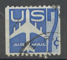 Etats Unis - Vereinigte Staaten - USA Poste Aérienne 1958-60 Y&T N°PA50dg - Michel N°F732Drl (o) - 7c Avion Stylisé - 2a. 1941-1960 Afgestempeld