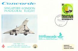 Singapore Concorde Flight: 1977 Singapore-London  Inaugural Flight British Airways - Singapore Airlines (DD29-2) - Concorde