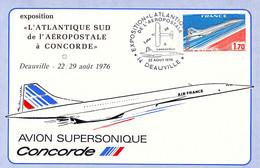 France Card 1976 Deauville Exposition L'Atlantique Sud De L'Aeropostale A Concorde (DD29-2) - Concorde