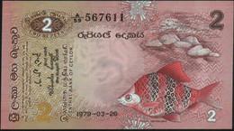♛ CEYLON & SRI LANKA - 2 Rupees 26.03.1979 UNC P.83 - Sri Lanka