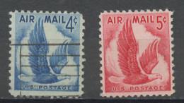 Etats Unis - Vereinigte Staaten - USA Poste Aérienne 1954-58 Y&T N°PA47 à 48 - Michel N°F680 à 681 (o) - Pyrargue - 2a. 1941-1960 Afgestempeld