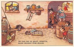 Chat - Chats - Souris - Ne Fais Pas De Bruit Minette Elles Croient être Seules - Cave Atelier Tonneaux - Dressed Animals