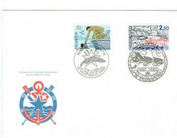FRANCE SUISSE EMISSION COMMUNE 100 ANS STE SAUVETAGE DU LAC LEMAN  1985    ALPES MONTAGNES - Andere