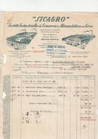 57-Sicagro...Société Industrielle De Conserves & Alimentation En Gros....Ars-sur-Moselle....(Moselle)....1939 - Food