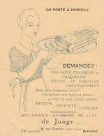FOREST BOULANGERIE PATISSERIE DE JONGE - 1950 - ...