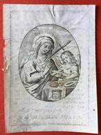 Anno 1833 Doodsprentje Décés - MARIA VAN LAECKEN - Wed MICHIELS - ANTWERPEN - Devotion Images
